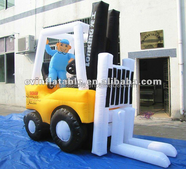 Custom inflatable tractor model, outdoor inflatable cartoon character, inflatable advertising balloon factory direct