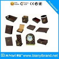 Hotel amenities supplies world map leather desktop set PW-102, Alibaba China Supplier