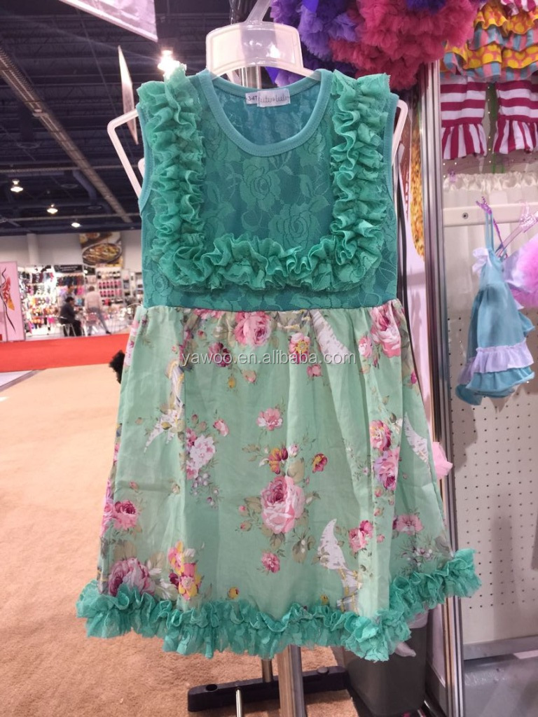 Yawoo wholesale summer holiday wear hawaii style kids girls party ...