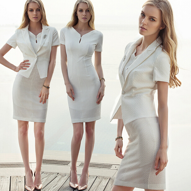 Nice Design Factory Discount T/R fabric Business Suits Style elegant lady office uniform wholesale