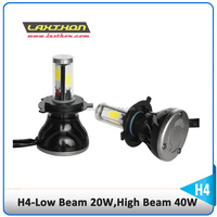 Newest High power 40W 4000lm H4 hilo led headlight bulbs with low bean 20w high beam 40w