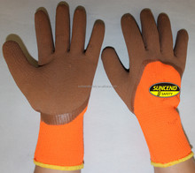 Cotton shell latex coated work construction building rigger gloves