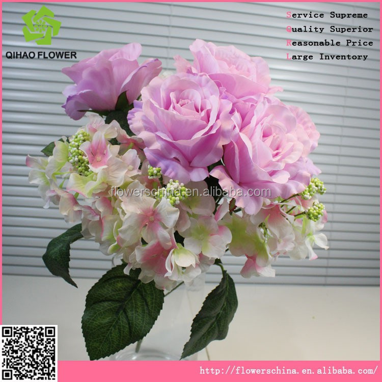 Hot sale indoor or outdoor artificial decorative hydrangea bonsai
