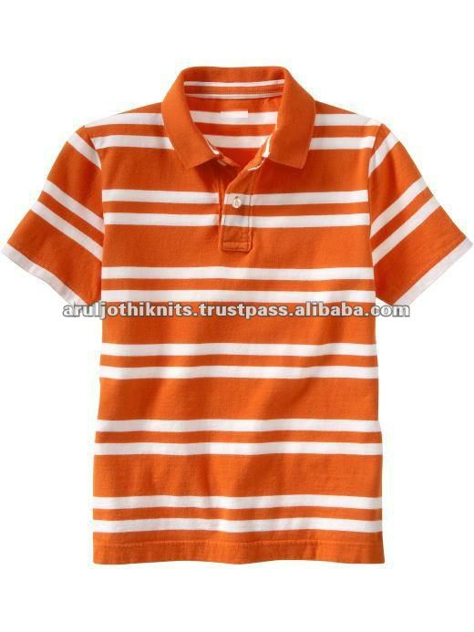 MEN'S YARN DYED STRIPED POLO T SHIRT