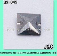 square sewing glass bead