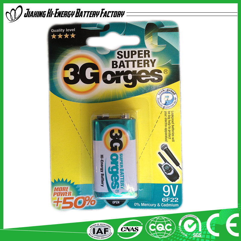 Environment Friendly Top Quality 6f22 9 Volt Battery Price