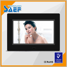 1024*600 dots USB interface wall mounted advertising display 7 inch digital photo frame