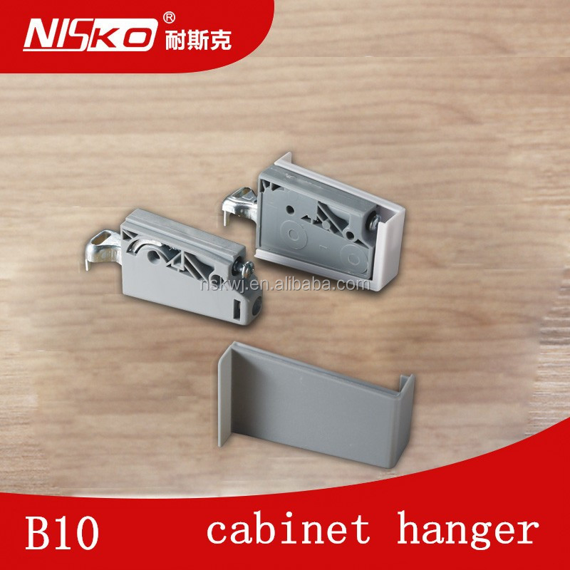 Visible suspension system kitchen cabinet hanger with ABS plastic cover