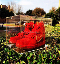 china supplier sneakers popualr acrylic shoe display case for nike