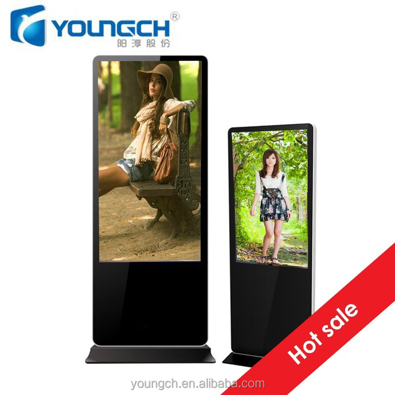 55 inches touch screen all in one android display round frame lcd advertising display