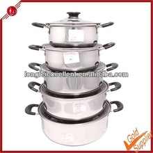 New design all size stainless steel cookware set/stock pot/soup pot with glass lid