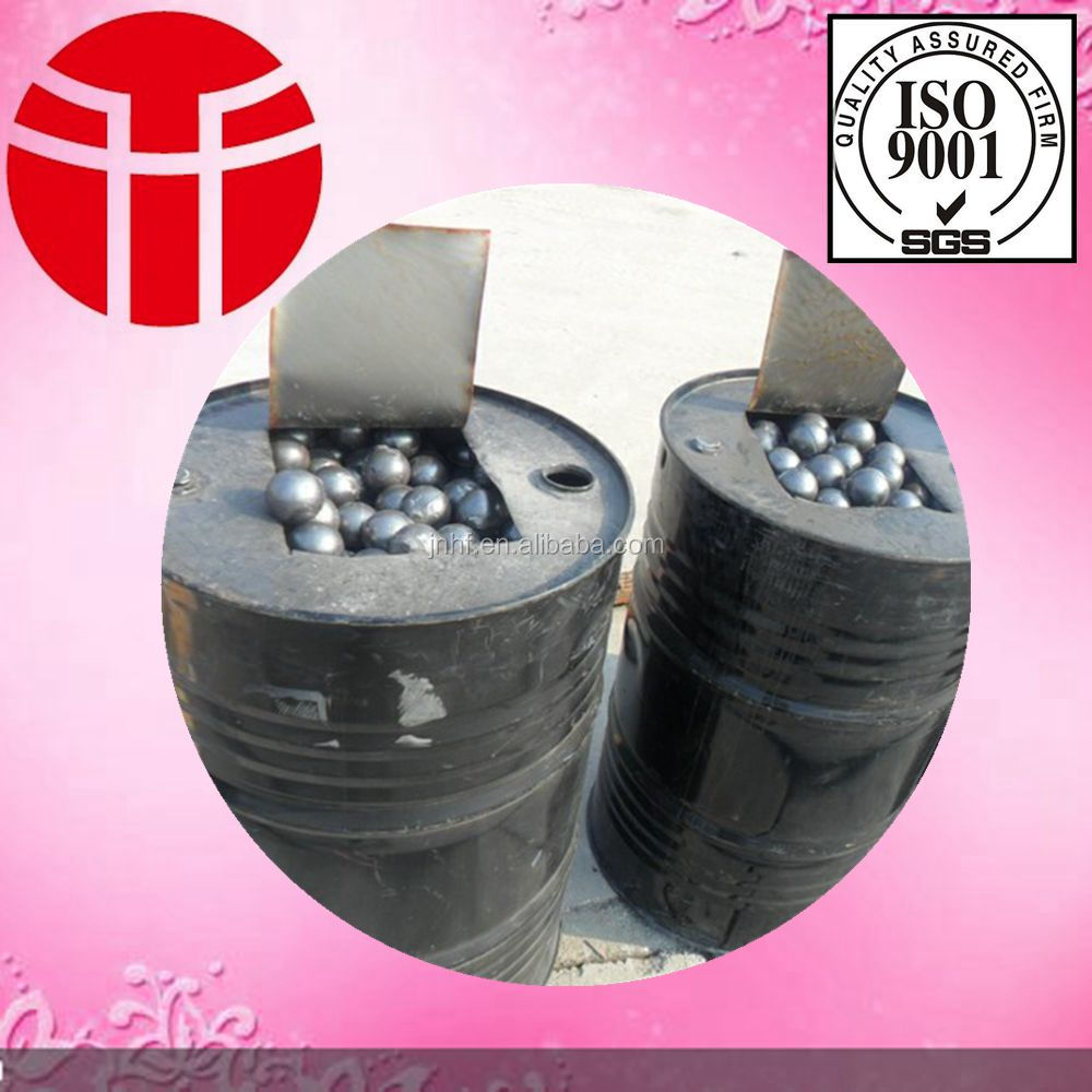 Jinan entered in the production of high quality more types of 65 mm forged steel ball used in Power plant pulverized coal