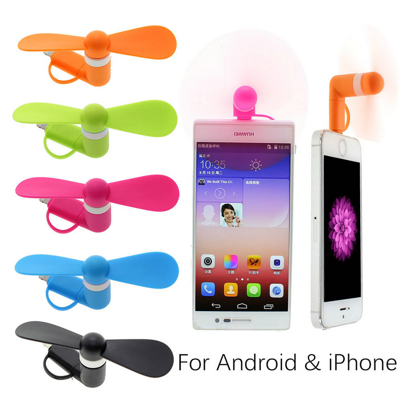 Gift promotional Mini USB Fan for Iphone For Samsung 2in1 USB fan Christmas Gift with Gift Bag