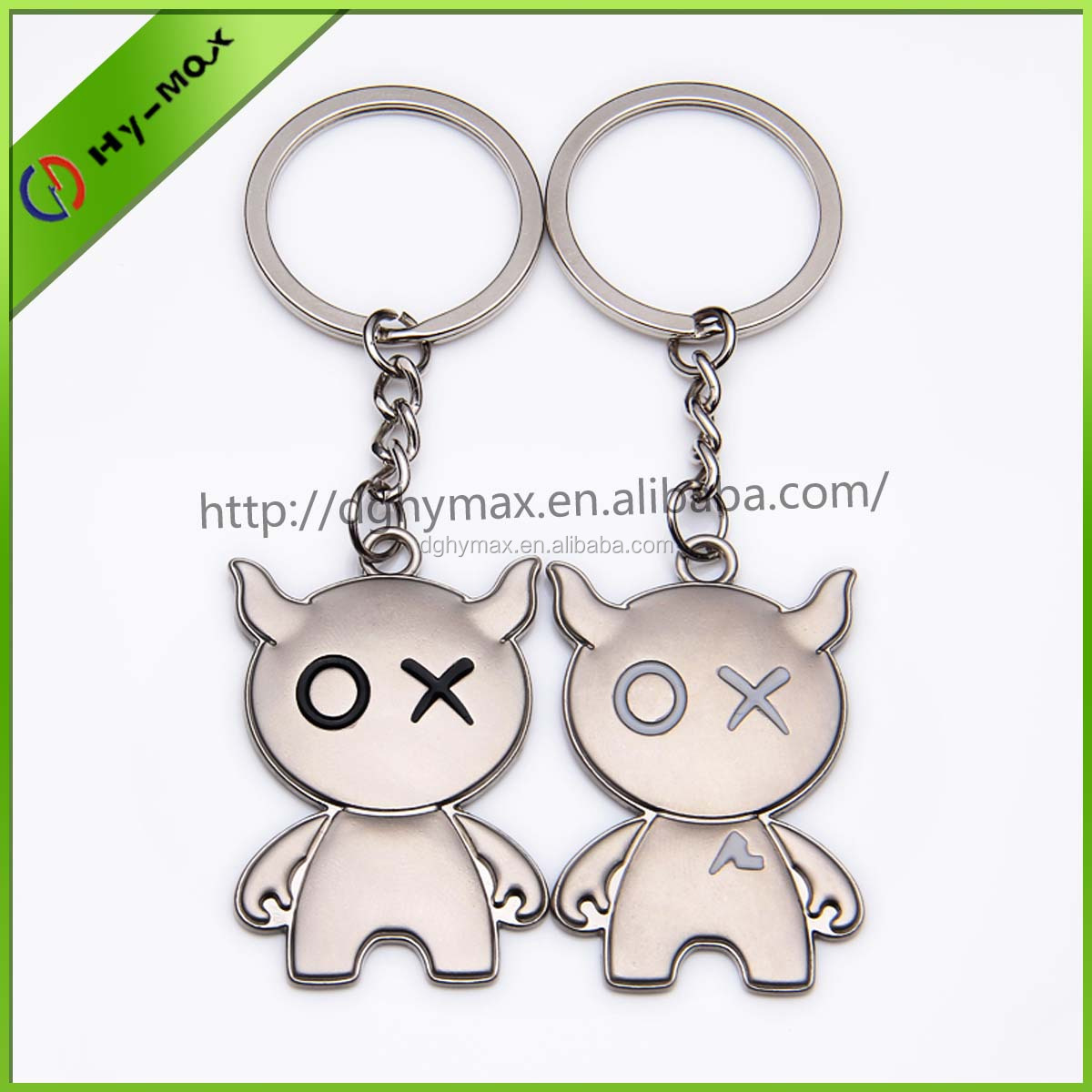 popular happy cow shaped keychain for valentine gift
