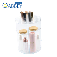 360-Degree Rotating Makeup Organizer Adjustable Spinning Cosmetic Storage Shelves with Large Capacity