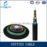Cable manufacturer supply Crush resistance flexible Duct Aerial &direct buried GYFTY53 fiber optic clothing