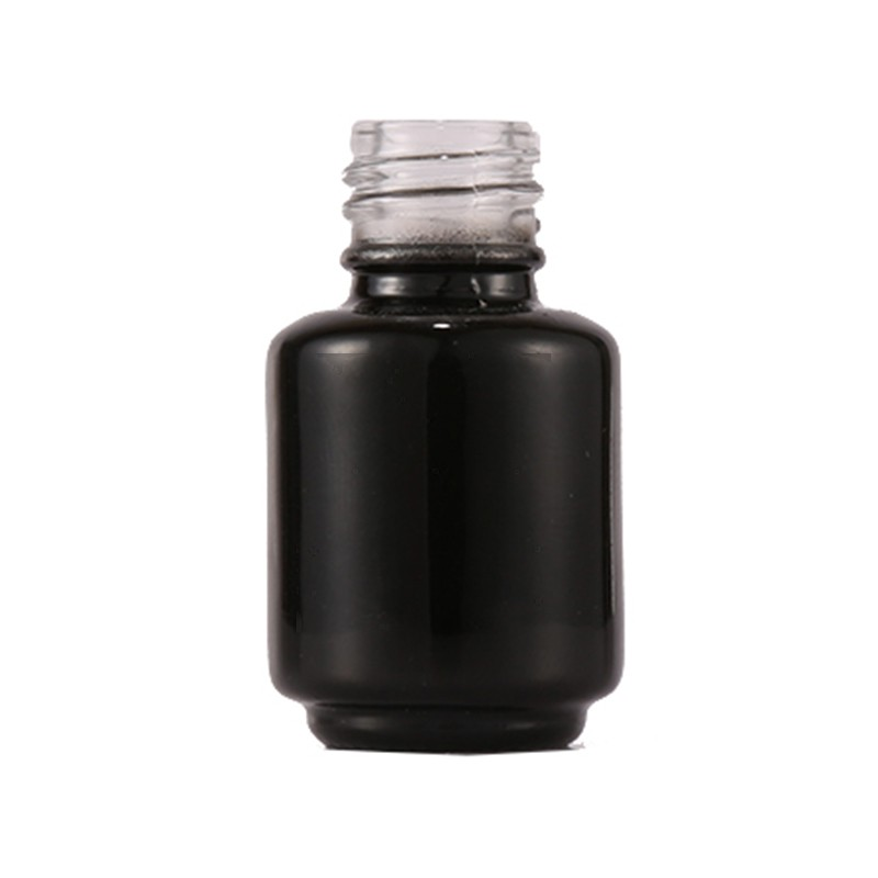 9ML Matte Black Color Glass Uv Nail Gel Polish Bottle