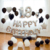 38PCS Black and White Balloon Set 18/12-inch Birthday Party Wedding Decorations