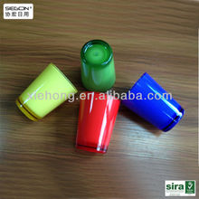 colurful acrylic cup,plastic cup with existing model