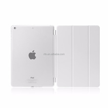 Detachable Rubberized Hard Smart Cover And Back Case for iPad 2 3 4 Air Mini Pro case, white