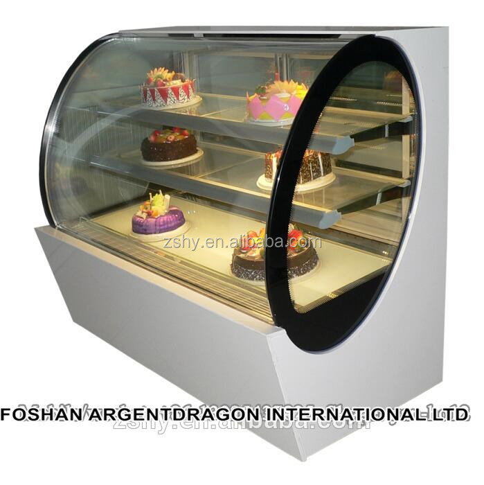Oval shape cake display cabinet (2-8 degrees C)