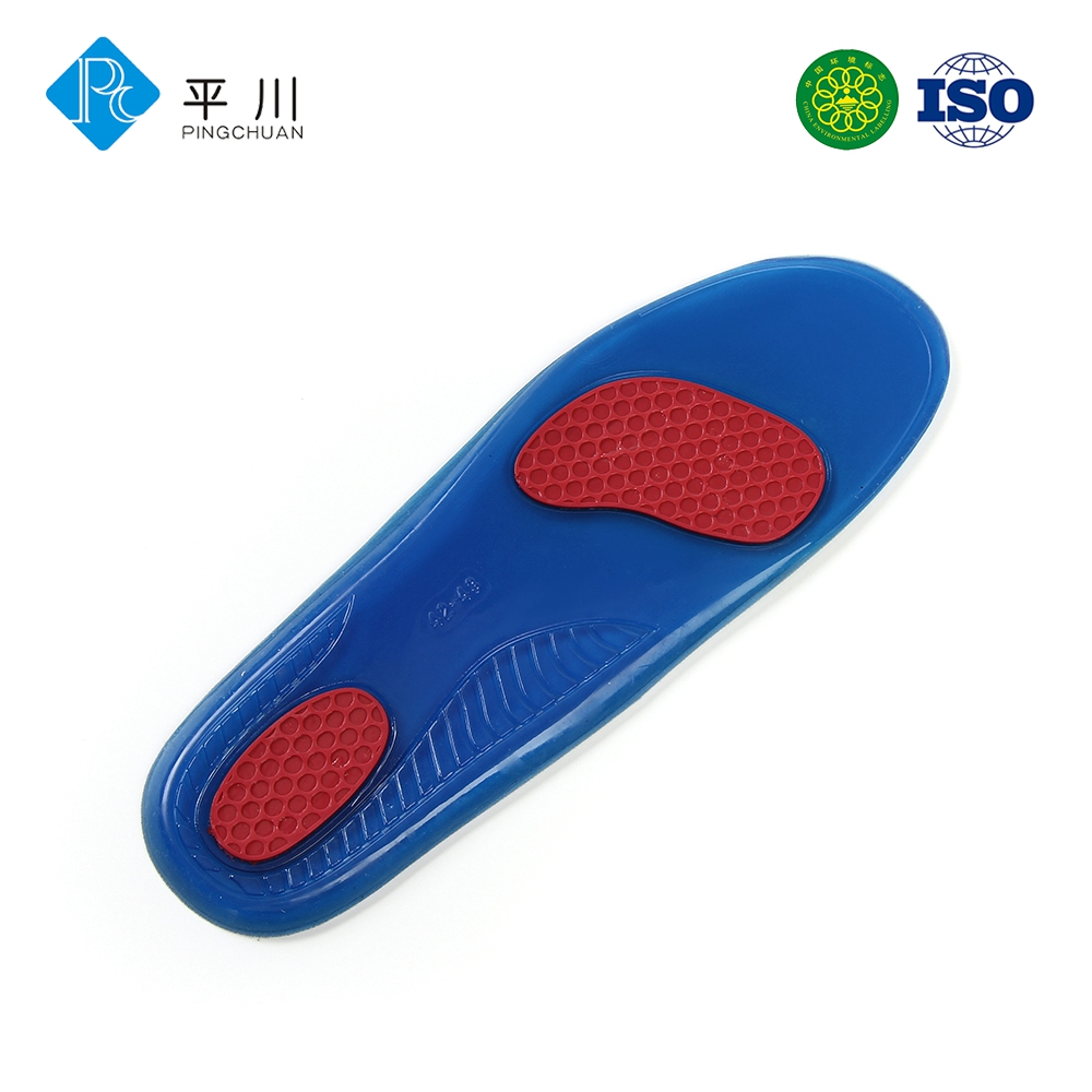 Comfortable gel cushion to help ease foot pain and fatigue stimulate step gel insole