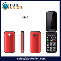 H2401 2016 hot selling low end cheap mobile phone dual sim low cost flip phone