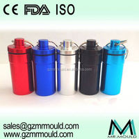 Assorted storage aluminium pill containers with keychain