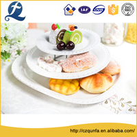 Exquisite hotel use ceramic pie plates white serving plates