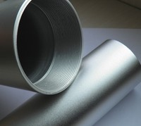 custom 6063 t5/t6 silver anodized threaded aluminum tube with ISO certificates