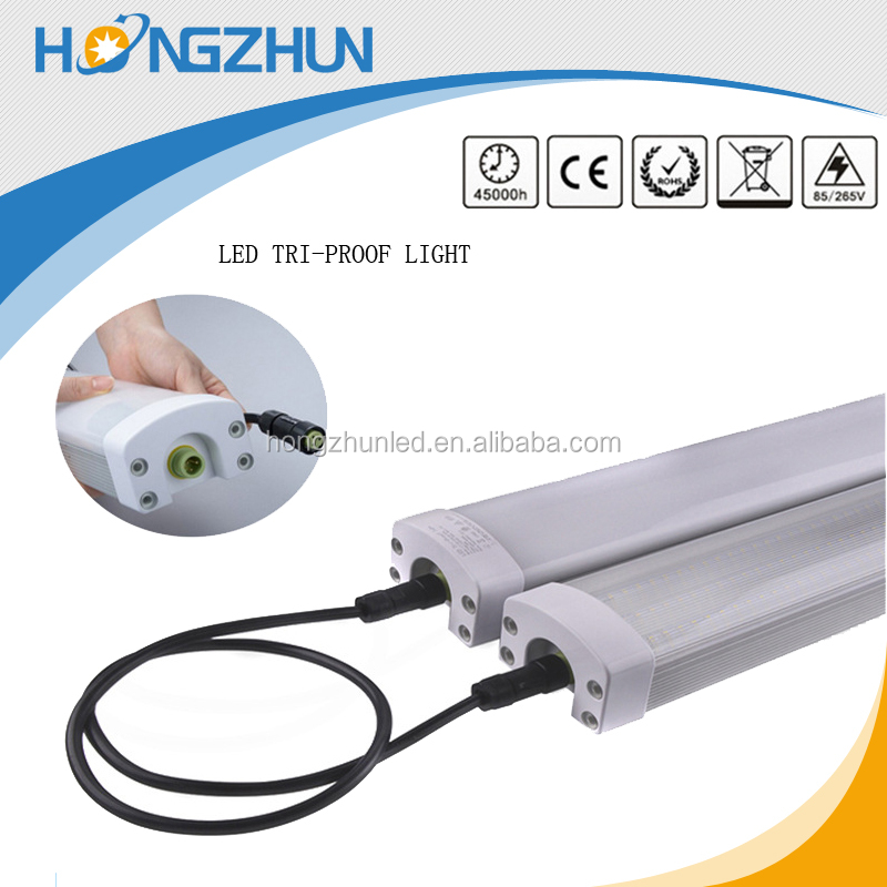 Zhongshan factory 100lm/w ce rohs approved led tri-proof tube lamp hot sale