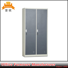EAS-025 modern anti-rust powder coated steel furniture 2 double door metal storage cabinet l shape lockers