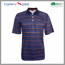 T184-092-1505BS Men OEM Shirt Polo T Shirt For Men Stripe