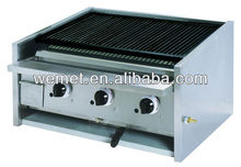 Table top lava rock grill/ gas char broiler