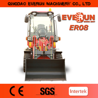 Everun Brand Mini Front End Type Pallet Forks Wheel Loader with CE Approved
