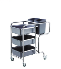 Hotel & restaurant detachable service cart dish collect cleaning trolley