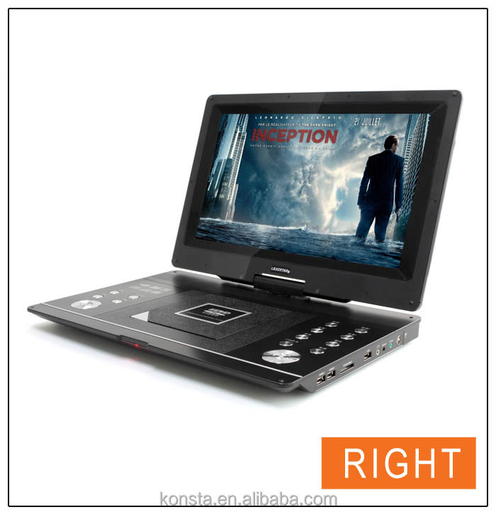 New 16 inch portable evd dvd player price with digital tv tuner USB/SD MPEG4 FM radio Game function