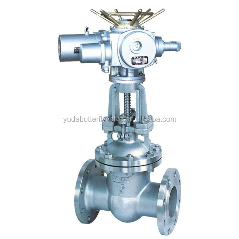 Electric stainless steel SS304 gate valve DN100