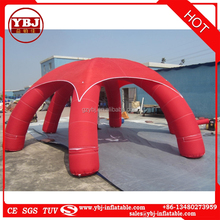 Hot sale red inflatable hexagonal tent for advertising