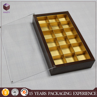 Exquisite printed chocolate gift gold paper box for kid