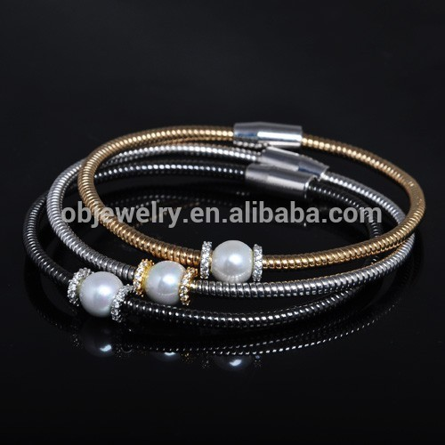 Newest Charm Design Fashion Colorful Stainless Steel Chain Bracelet With Screw Clasp