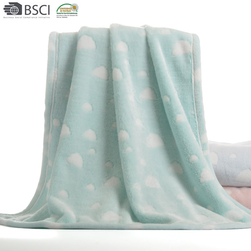 Super Soft Animal Offset Printed Coral Fleece Baby Blanket