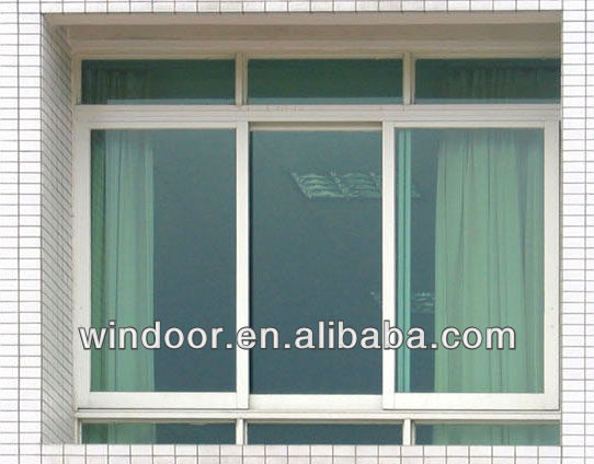 PVC/UPVC large casement window with top fixed window factory in qingdao shandong