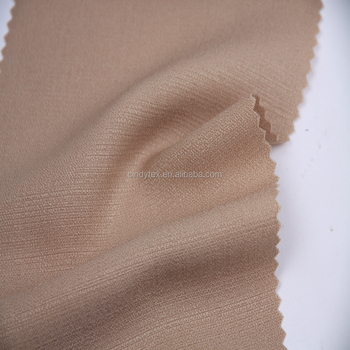 plain dyed faux silk brown irregular fake linen fabric
