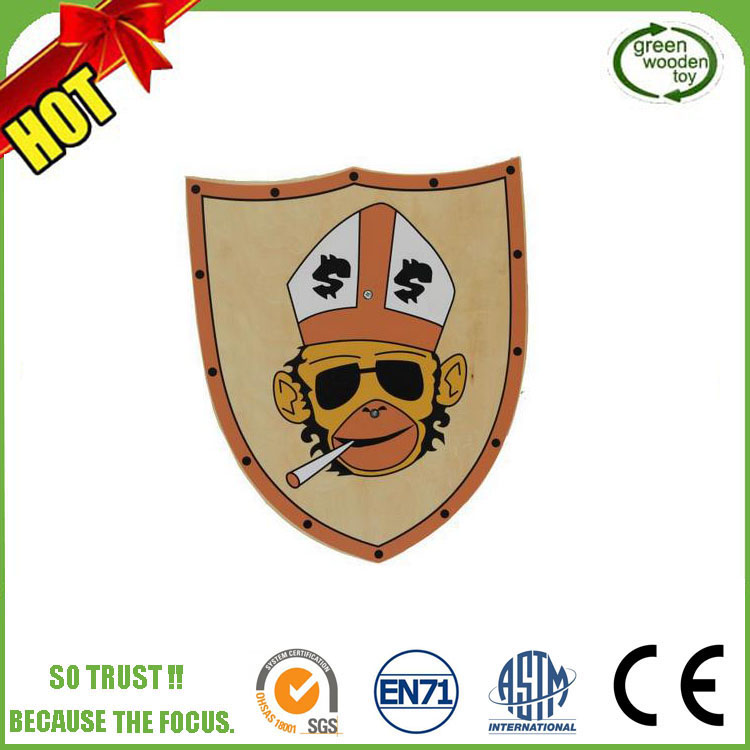 2017 Outdoor Toys Wooden Shield And Swords for Kids