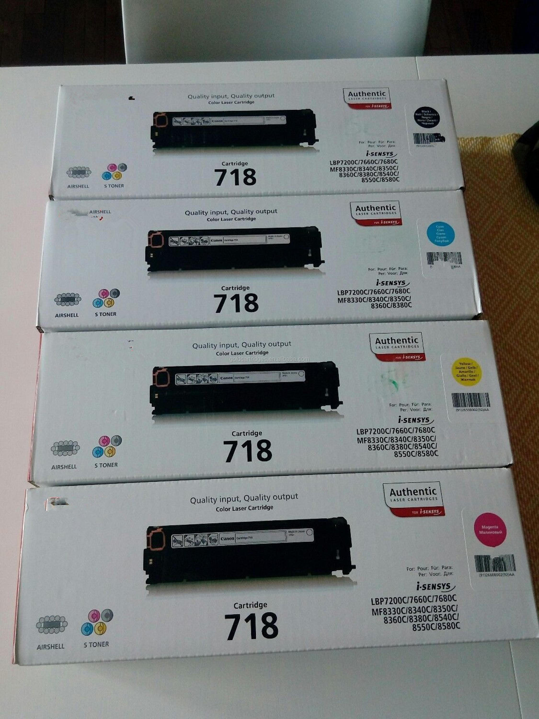 genuine original color toner cartridges crg 718 for Canon high page yield 2.9k