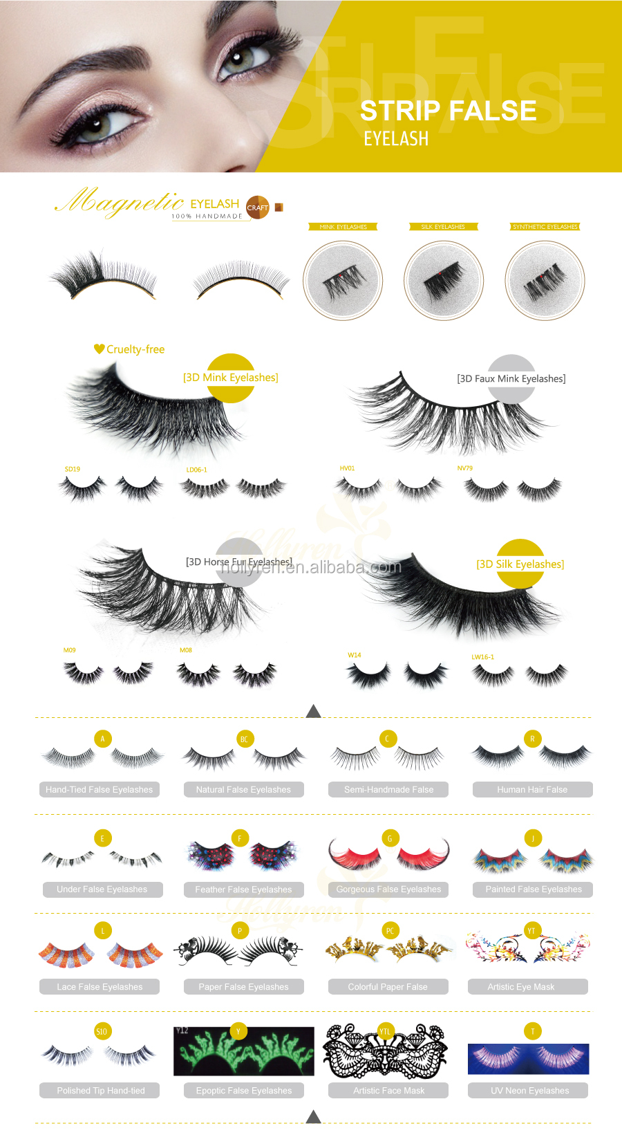 3D Faux Mink Silk False Eyelash