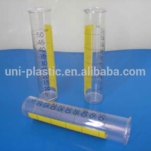 Plastic Clear Measuring Tubes with - 0.40mm Transparent PVC