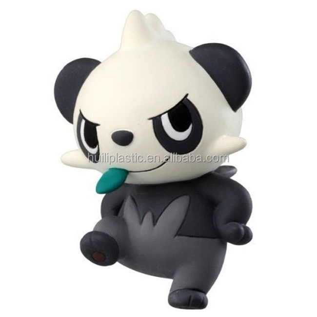 customize panda toys vinyl figure,make custom design plastic panda figure toys