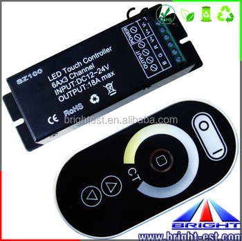 AAA Battery 2.4G RF RGBW Remote Controller,New Selling MINI RF Remote WIFI Led Strip Controller In Dimmers
